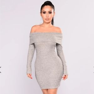 Fashion nova grey dress